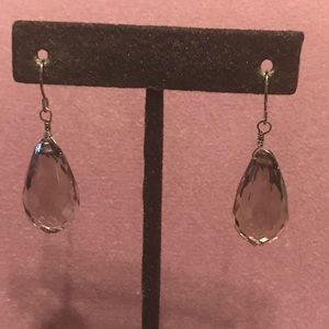 Smokey Crystal Earrings.  2/$10 Sale